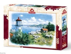 تصویر  پازل Seafront Lighthouse 500pcs 5076